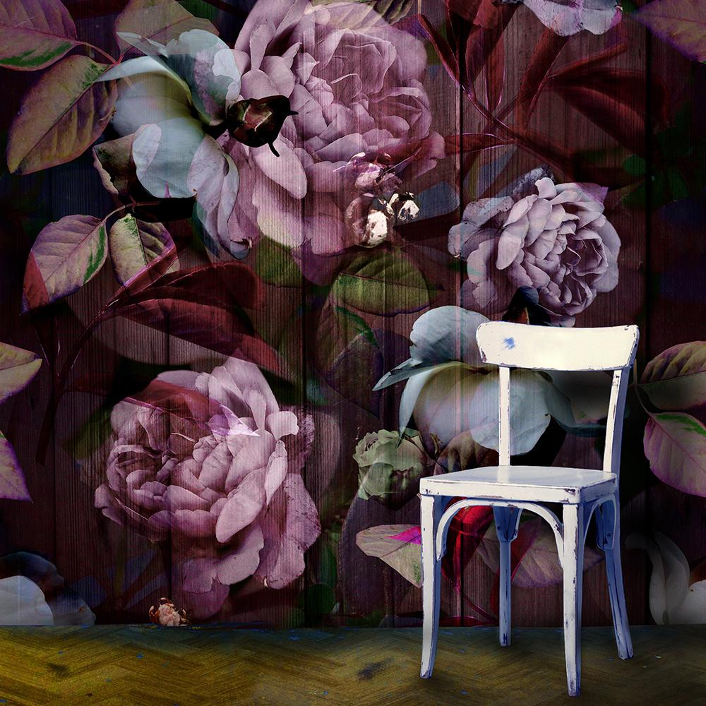 Kews Ghost Roses, a printed fabric designed by Annette Taylor-Anderson.