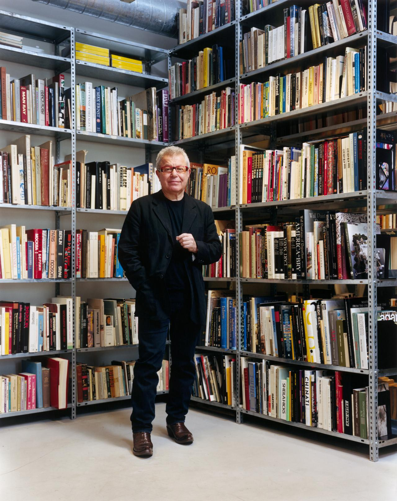 Libeskind in his studio in New York City, one block away from Ground Zero — and the project that catapulted him into the public spotlight.