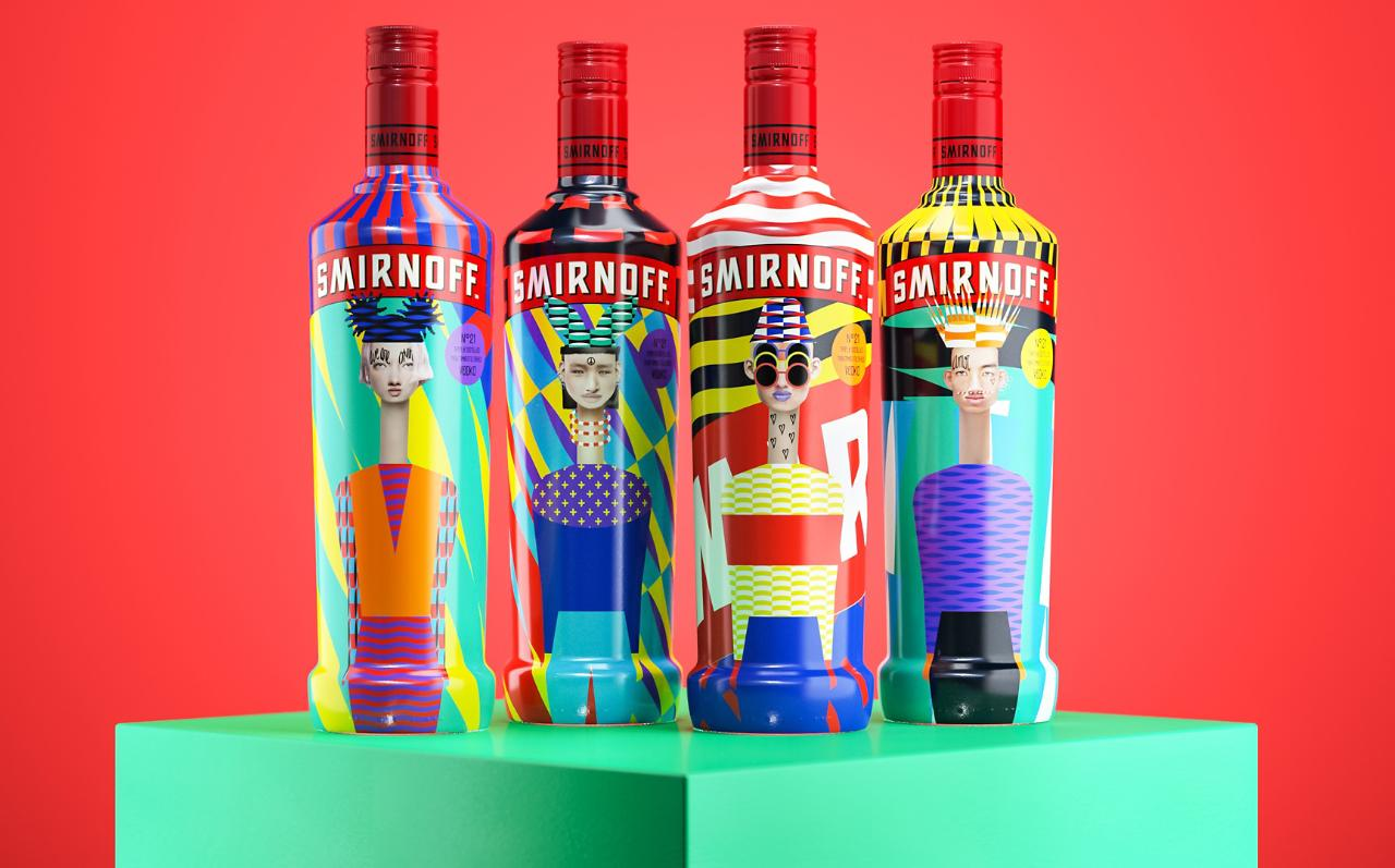 Inspired by the classic Smirnoff 21 brand, the award-winning Yarza design team used the HP SmartStream D4D software to create unique labels.