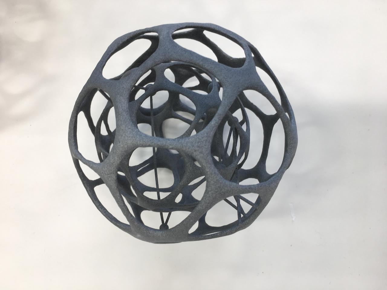 Sample of 3D printed cell model.