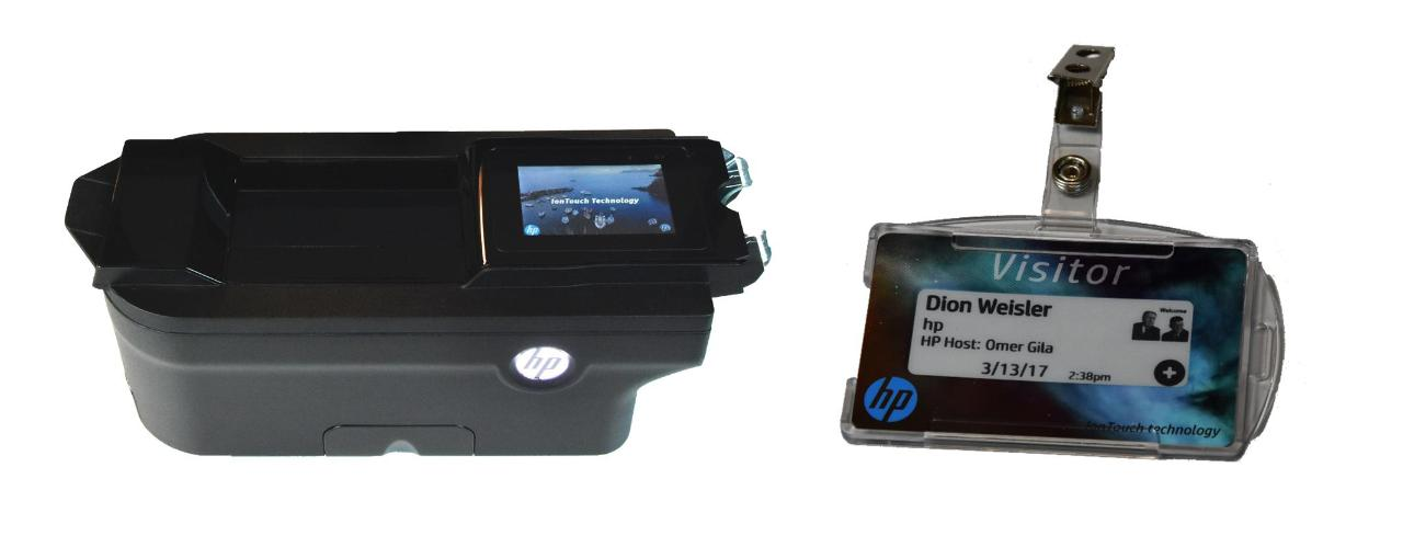 HP IonTouch technology. Imager (left) and Rewritable media (Right)