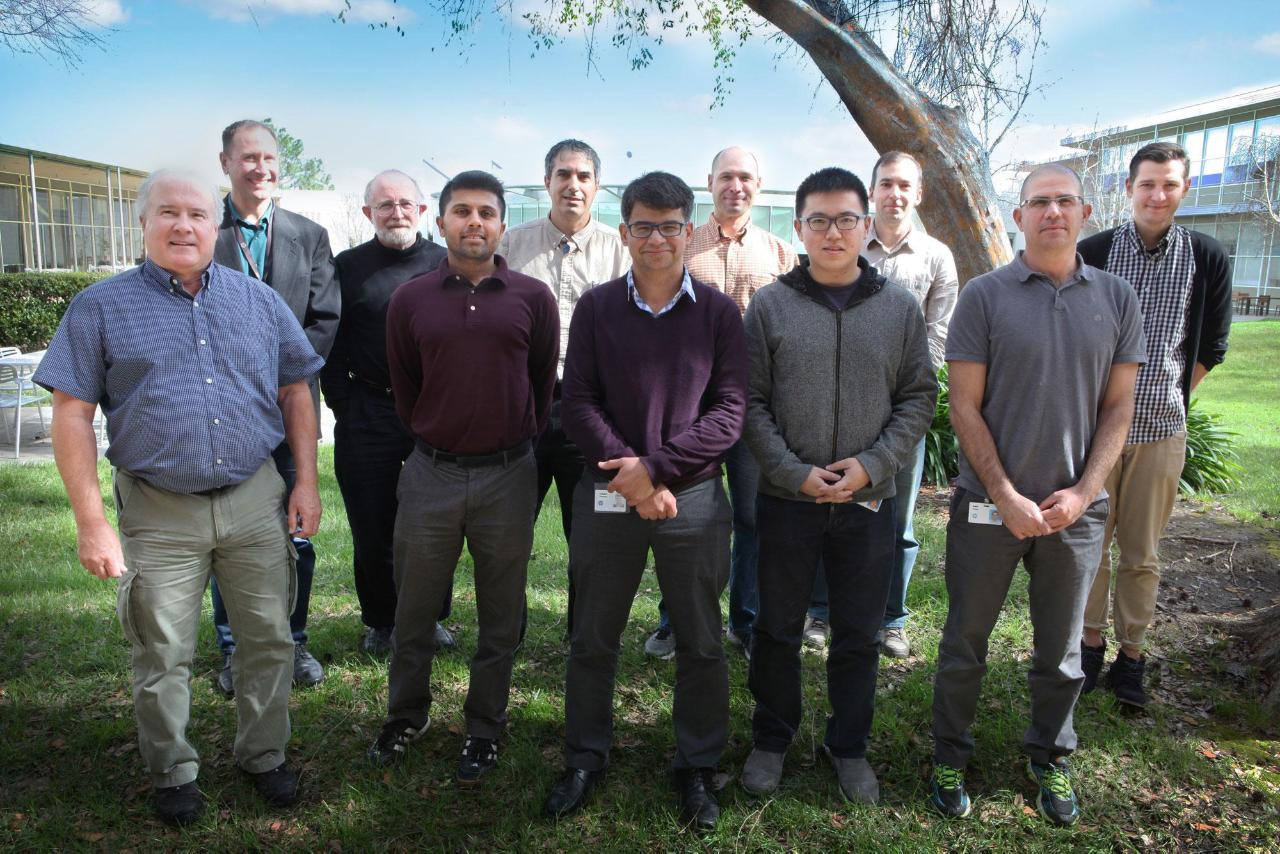 The IonTouch Team. From left to right: Bill Holland, David George, Henryk Birecki, Raj Kelekar, Omer Gila, Napoleon Leoni, Anthony McLennan, Chuangyu Zhou, Rares Vernica, Dekel Green, and Mark Huber. Other key contributors include Marc Ramsey and Michael Lee.