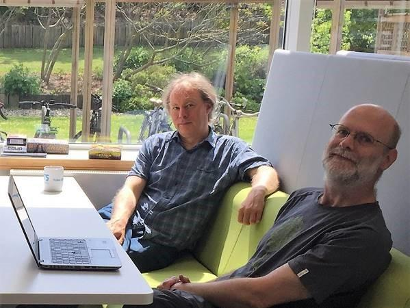 From left: HP Labs researchers Adrian Baldwin and Jonathan Griffin