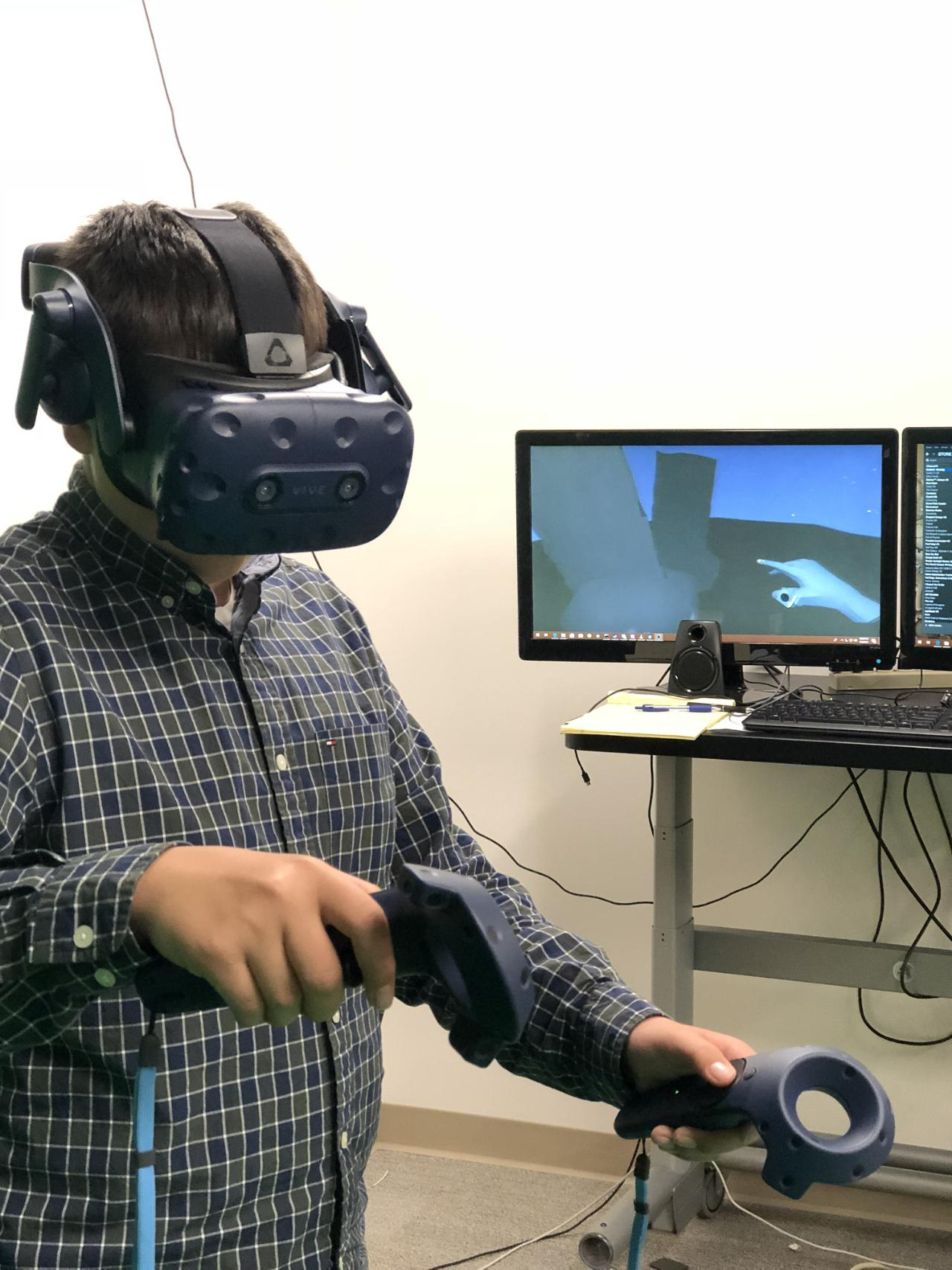 In the VR lab.