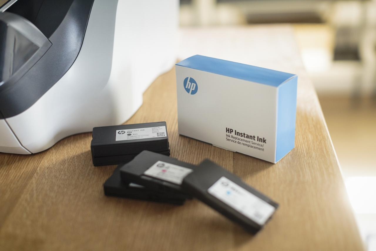 HP's Instant Ink service automatically ships a new cartridge to users when their printer ink runs low.