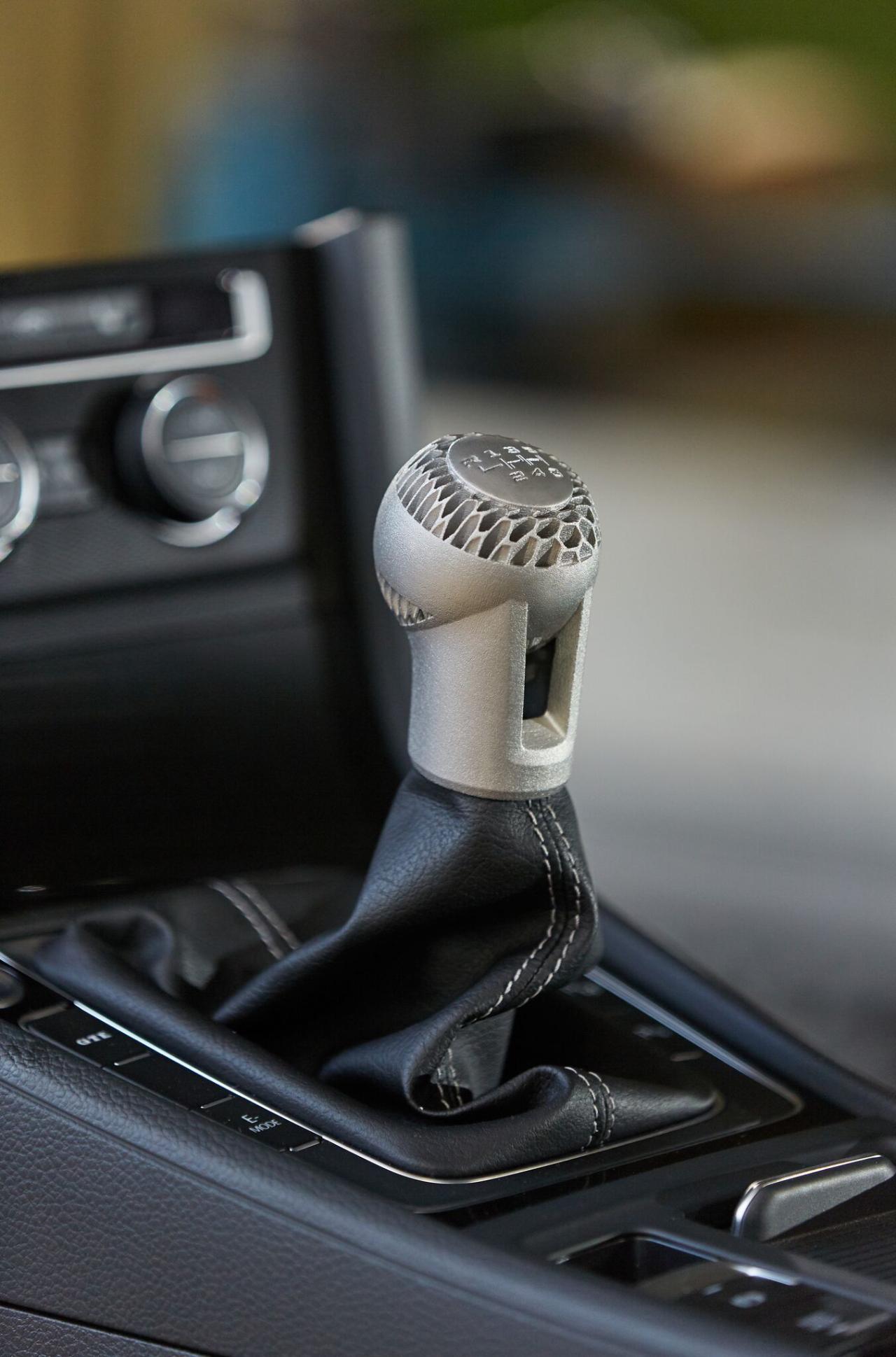 3D Metal Jet printed Volkswagen gearshift knob.