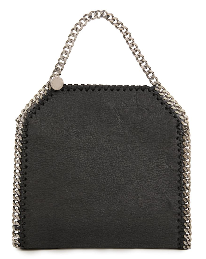 Stella McCartney's Mylo bag is on display at the Victoria and Albert Museum in London.