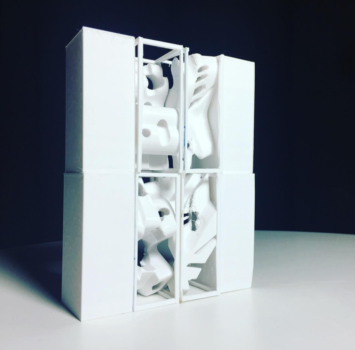 Sutton's Yale project translated people's thoughts and emotions into 3D printed objects.
