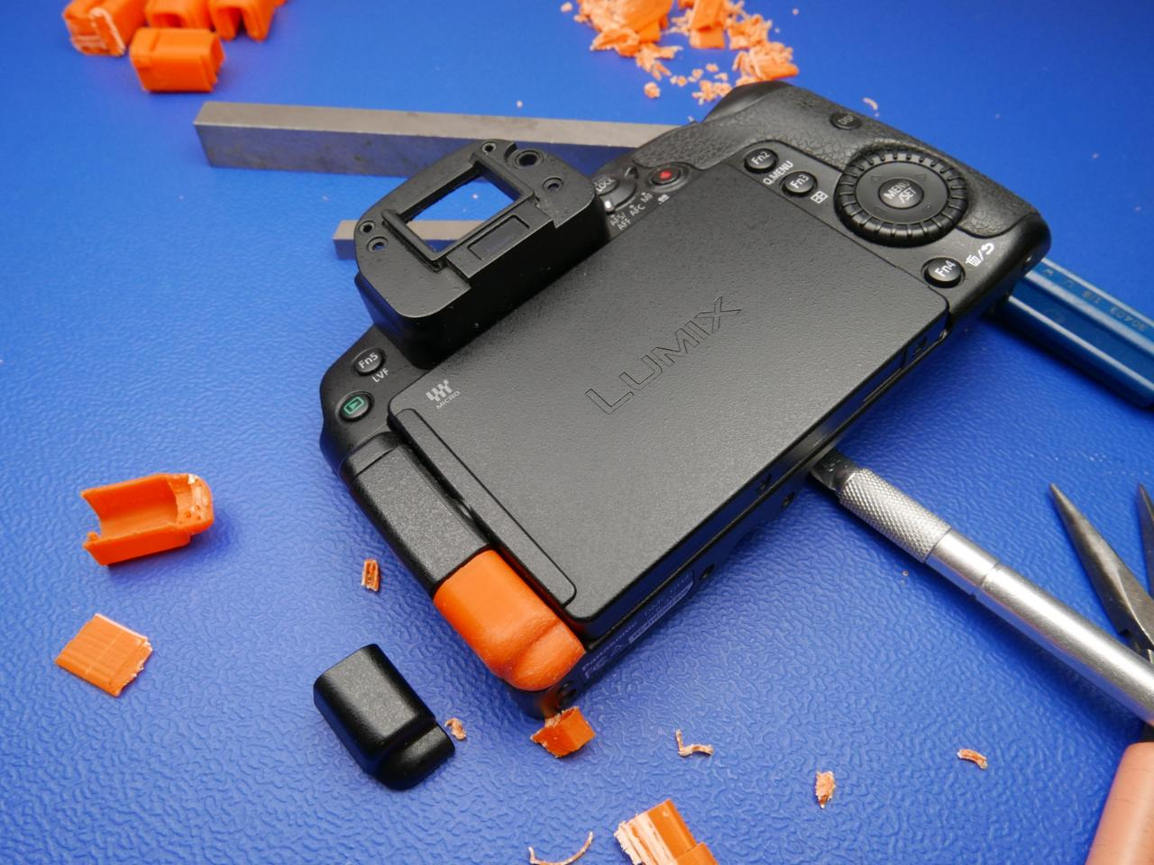 Anthony Kouttron took first place in the Dare to Repair contest with his Panasonic Lumix hinge cover prototype.