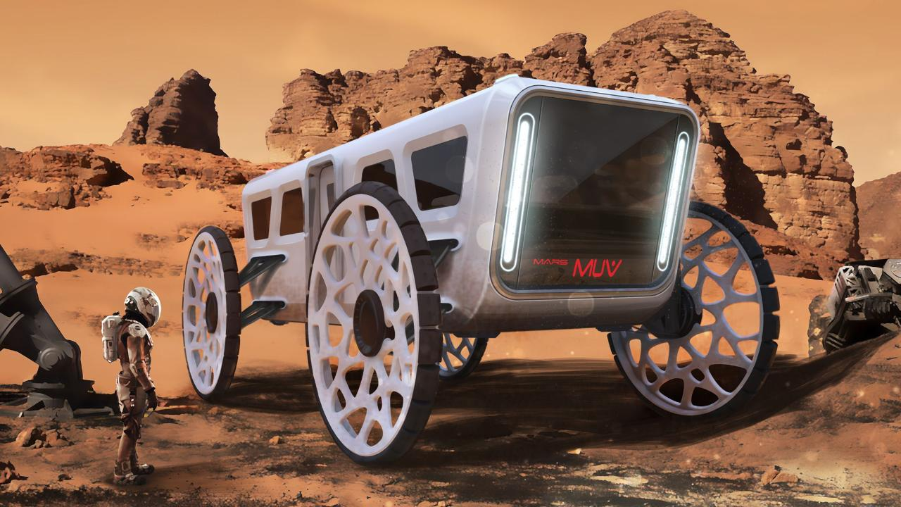 Xavier Albizu, a winner in the transportation category, designed a multi-utility vehicle that can be used as a standalone rover, a train and a suspended transport system.