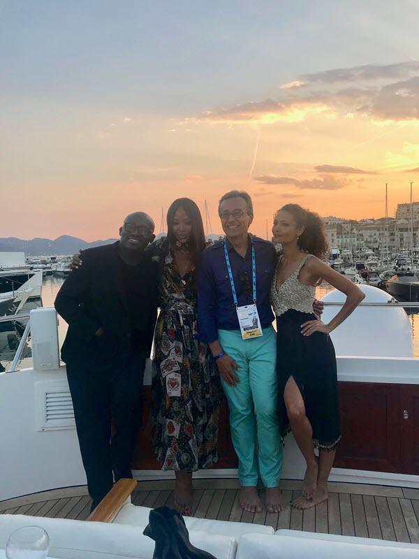 From left to right: Enninful, Naomi Campbell, Lucio and Newton at Cannes Lions.