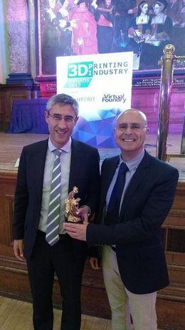 Ramon Pastor, head of HP Multi Jet Fusion technology and Emilio Juarez, head of 3D Printing European sales.
