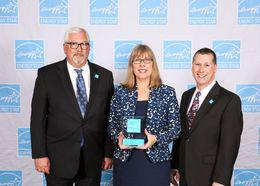 From left to right: Head of Americas Government Relations at HP Randy Dove, Environmental Program Manager, Americas Sustainability at HP Gabriele Peterschmidt and Jonathan Passe, from EPA ENERGY STAR.
